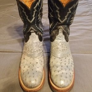 Lucchese full quill ostrich boots